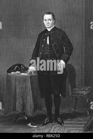 ROGER SHERMAN (1721-1793) amerikanischer Staatsmann und einer der Gründerväter Stockbild