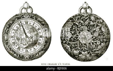 Charles I's Watch. Stockbild