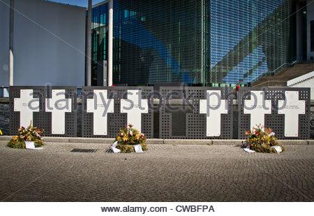 Denkmal für die Opfer der Mauer in Berlin Stockbild