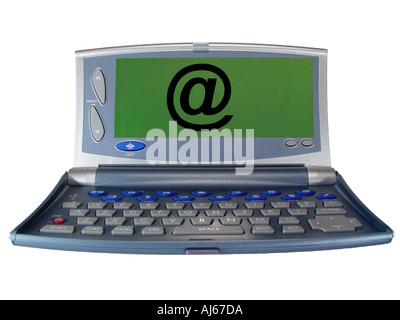 Taschencomputer Mit Text Stockbild
