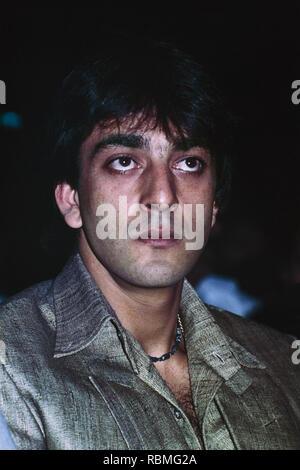 Nahaufnahme von Sanjay Dutt weg schauen, Indien, Asien Stockbild