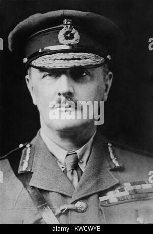 Allgemeine Edmund Allenby led des Britischen Empires Sinai und Palästina Kampagne in WW1. Das osmanische Reich Stockbild