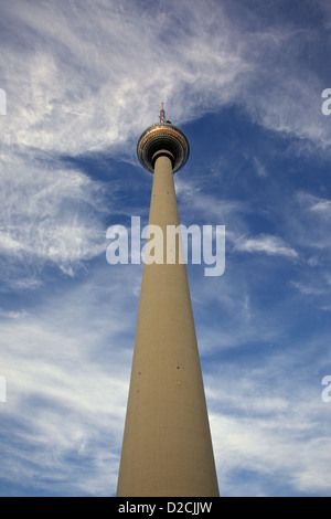 Fernsehturm, TV Turm Alexanderplatz, Berlin Stockbild