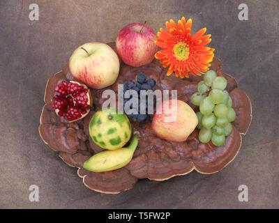 Obst und Blume, Visakhapatnam, Andhra Pradesh, Indien, Asien Stockbild