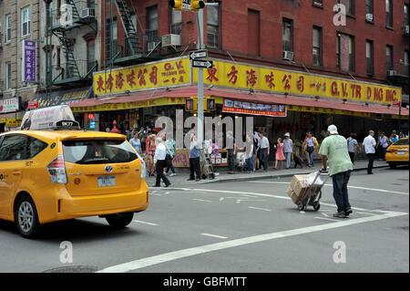 Chinatown NewYork Stockbild