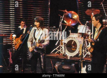 Die KRONPRÄTENDENTEN English-American rock Gruppe mit Chrissie Hynde über 1980. Foto: Van Houten Stockbild