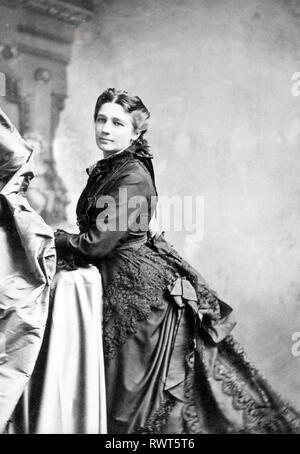 VICTORIA WOODHULL (1838-1927), US-amerikanische Frauen Wahlrecht leader 1872 Stockbild