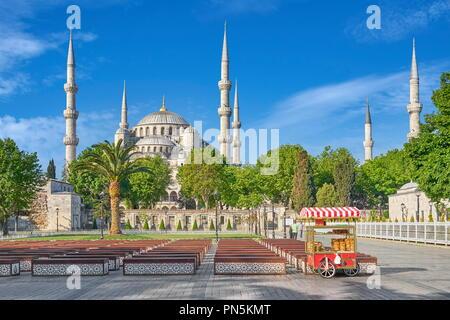 Blaue Moschee, Sultan Ahmed Moschee, UNESCO-Weltkulturerbe, Istanbul, Türkei Stockbild