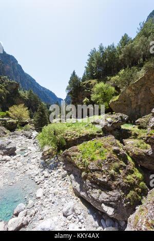 Kreta - Griechenland - Flussbett des Samaria-Gorge, Europa Stockbild