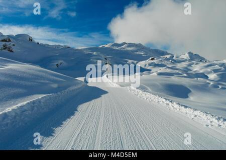 Snow trail Stockbild