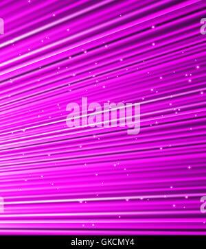 Sterne fallen auf dem Hintergrund der violetten Strahlen. Stockbild