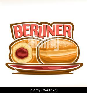 Vector Illustration der deutschen Berliner Stockbild