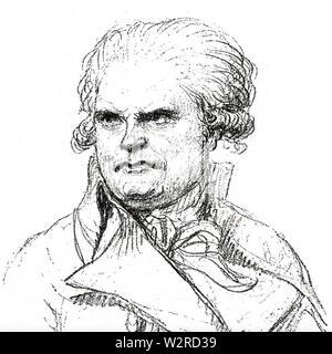 GEORGES DANTON (1759-1794), führende Persönlichkeit in der frühen Phase der Französischen Revolution Stockbild