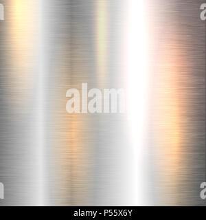 Glänzendes Silber metallic Textur Hintergrund Stockbild