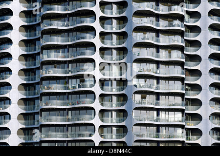 Moderne Architektur, Sluseholmen, Kopenhagen, Dänemark, Europa Stockbild
