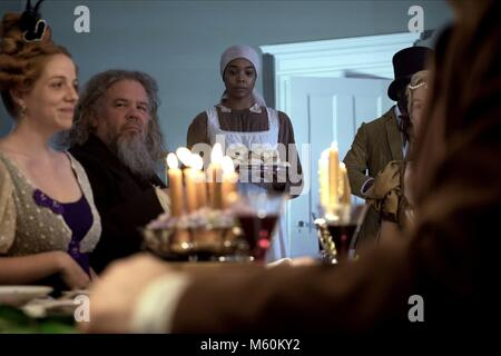 MARK BOONE JUNIOR & GABRIELLE UNION DIE GEBURT EINER NATION (2016) Stockbild