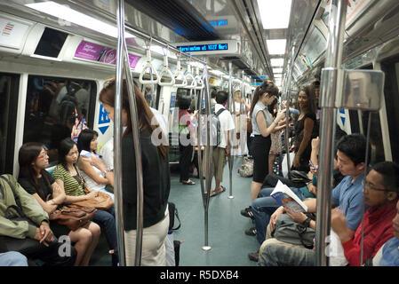MRT (Metro) Singapur Stockbild