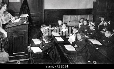 Pariser Schule über 1900 Stockbild