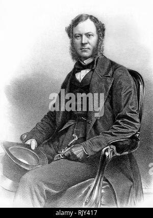 CHARLES GORDON - Lennox, 6. Herzog von Richmond (1818-1903) Englische konservative Politiker Stockbild