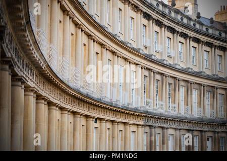 Die cirus, der berühmten mews im Zentrum von Bath. Stockbild
