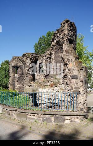 Historische Stadtmauer,, Duisburg, Ruhrgebiet, Nordrhein-Westfalen, Deutschland, Europa ich historische Stadtmauer, Duisburg, Ruhrgebiet, Nordrhein-Westfal Stockbild