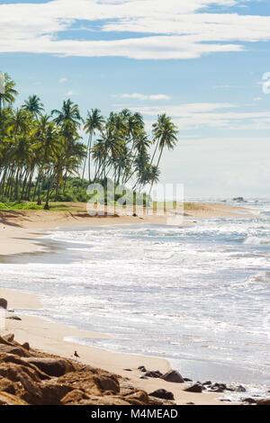 Sri Lanka, Asien, Rathgama - Ruhige Naturstrand Landschaft von Rajgama aka Rathgama Stockbild