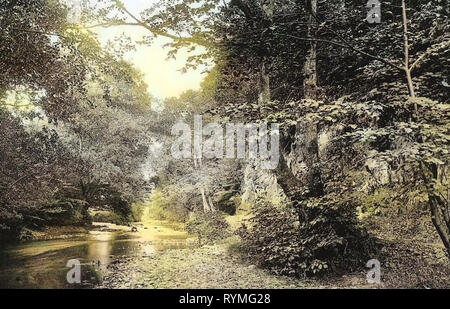 Flüsse in Niedersachsen, Bad Lauterberg im Harz 1907, Niedersachsen, Bad Lauterberg, Philosophenweg, Deutschland Stockbild