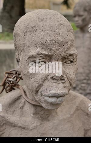 Geographie/Reisen, Tansania, moument Für die Slaves von Clara Sornas in der Altstadt von Stone City oder Zanzibar Stockbild