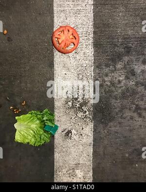 Gemüse auf dem Boden Stockbild