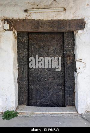 Alte Holztür, Asir Provinz Abha, Saudi-Arabien Stockbild