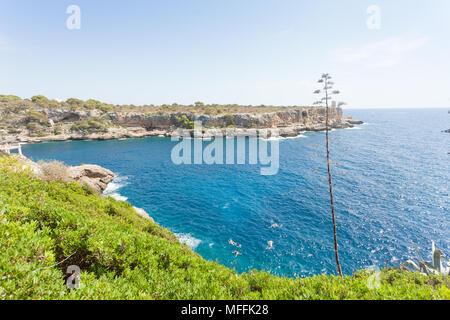 Cala Figuera de Santanyi, Mallorca, Spanien - Gefühl von Freiheit an der Küste von Santanyi Stockbild