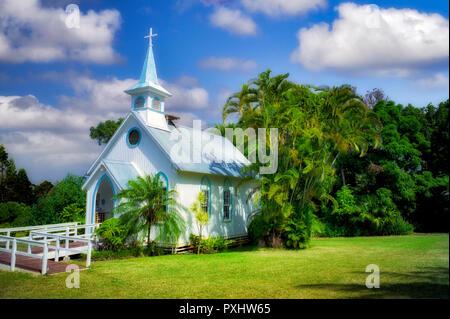 Kirche auf der Großen Insel, Hawaii Stockbild