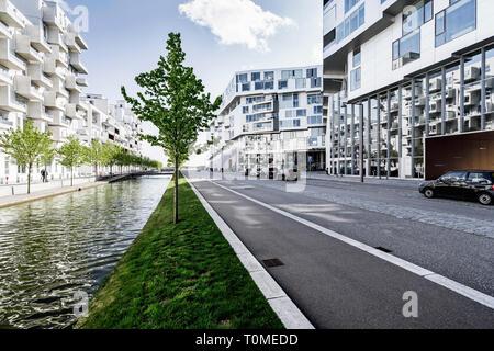 Moderne Architektur, Ørestad, Kopenhagen, Dänemark Stockbild