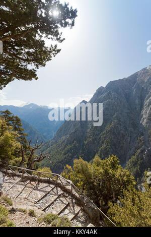 Kreta - Griechenland - Eingang des Samaria-Gorge, Europa Stockbild