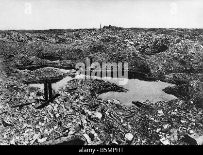 9 1916 11 1 A1 E zerstörte Fort Vaux 1916 1. Weltkrieg Western Front Schlacht um Verdun 1916 zerstörte Stockbild