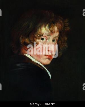 Selbstbildnis, ca 1614. In der Sammlung der Akademie der Bildenden Künste Wien gefunden. Stockbild