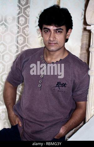 Portrait von Aamir Khan, Indien, Asien Stockbild