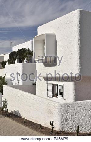 Moderne Wohnimmobilien, Stadt von Agaete im Nordwesten von Gran Canaria Kanarische Inseln Spanien. Stockbild