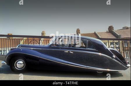 1951 Daimler goldenen Limousine mit Stern, Lackierung im Besitz von Lady Docker Stockbild