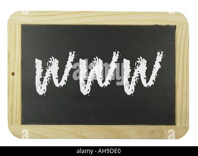 Board mit Internet Begriff Symbolbild für e-Learning und Internet-training Stockbild