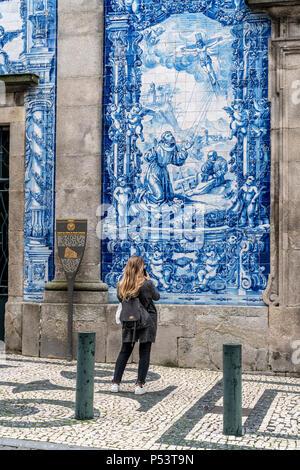 Capela Das Almas Kirche, Porto, Portugal Stockbild