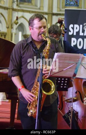 Roberto Manzin, Eastbourne Jazz Festival, Christ Church, Eastbourne, East Sussex, 30. Sep 2018. Stockbild