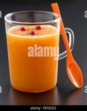 Melone und Muskat Suppe Stockbild