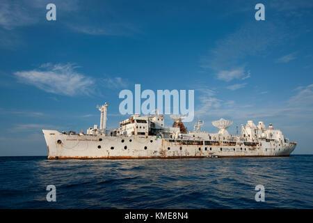 General Hoyt S. Vandenberg Schiff, wie es für Untergang, sechs Meilen vor der Küste von Key West, Florida Stockbild