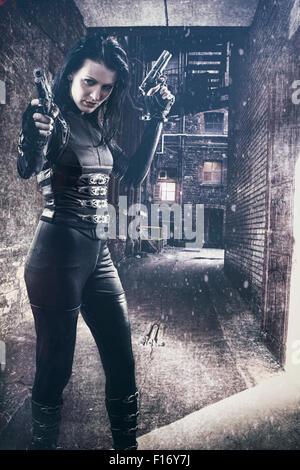 Female assassin Stockbild