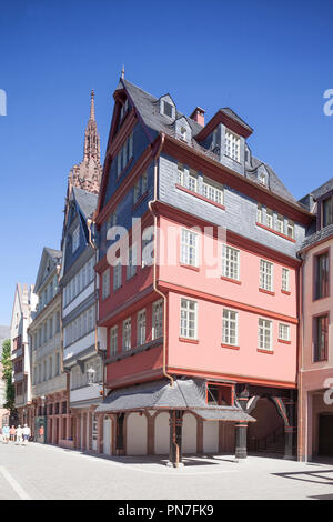 Rekonstruierten historischen Fassaden, neue Altstadt, Dom-Römer-Areal, Frankfurt am Main, Hessen, Deutschland, Europa Ich rekonstruierte historische Hausfassaden, Stockbild