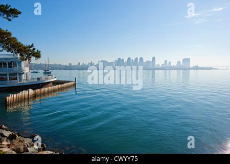 San Diego Stadt dawn Stockbild