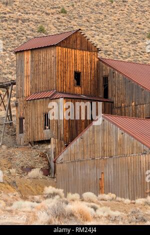 Berlin Mühle, Berlin-Icthyosaur State Park, Nevada. Stockbild