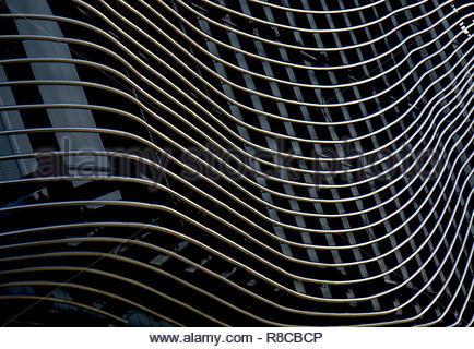 Southampton Detail auf Gebäude, was Kai Stockbild