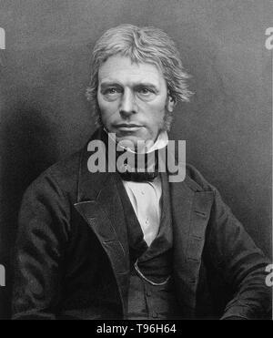 Michael Faraday (September 22, 1791 - 25. August 1867) war ein englischer Chemiker und Physiker, der auf die Felder des Elektromagnetismus und der Elektrochemie beigetragen. Faraday mit Elektrizität und Magnetismus experimentiert und schlägt vor, dass Magnetismus wurde ein Rundschreiben. Er auch für die Entdeckung der magnetischen optische Drehung bekannt ist, elektromagnetische Induktion, die Erfindung des Dynamos, die Perfektionierung der Bunsenbrenner, und der Formulierung der zweite Gesetz der Elektrolyse. Autor von ''chemische Manipulation'', Faraday selbst ausgebildet und auf die Felder des Elektromagnetismus und der Elektrochemie trugen nach einem apprent Stockbild